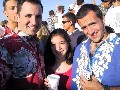 Mark, Mike and Melena at the Luau