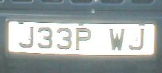 Daryl's WJ plate from the UK